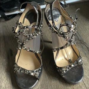 Jimmy Choo crystal studded heels